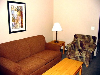 Suites Furnished With A Deluxe Sofa Chair And Coffee Table. 10 of 10