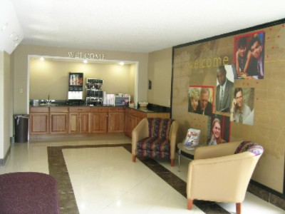 Lobby Offering Coffee/tea/juice/donuts 3 of 10
