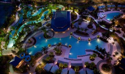 Hilton Orlando Recreational Area At Night 14 of 31