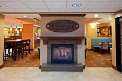 Warm Fireplace Located In The Lobby Of The Holiday Inn Express 5 of 16