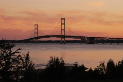 Mackinac Bridge At Sunset 7 of 16