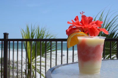 Tropical Drink And View From Tiki Bar Deck 7 of 12
