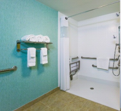 Handicap Accessible Bathroom With Roll In Shower 14 of 22