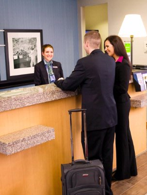Guest Checking In At The Front Desk 5 of 22
