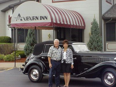 The Owners Of The Auburn Inn And Their 1936 Auburn 852 Pheaton 21 of 27