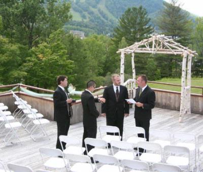 Outdoor Wedding At Hunter Mountain Scribner Hollow Lodge 15 of 16