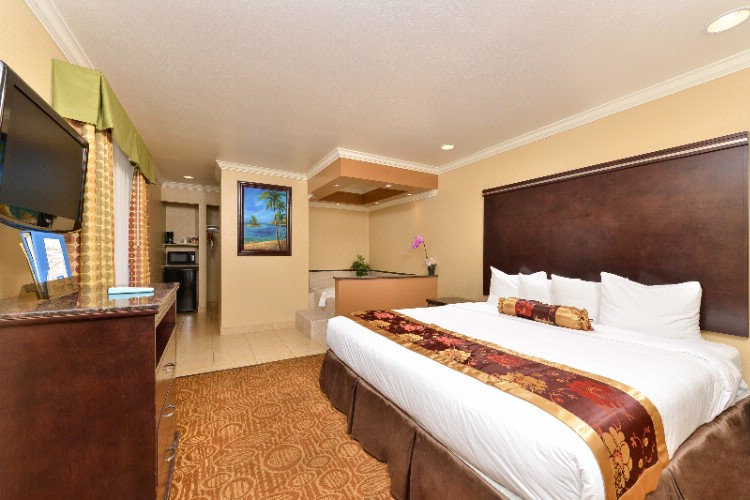 Non Smoking King Suite Bedroom W/ Jacuzzi Whirpool 5 of 10