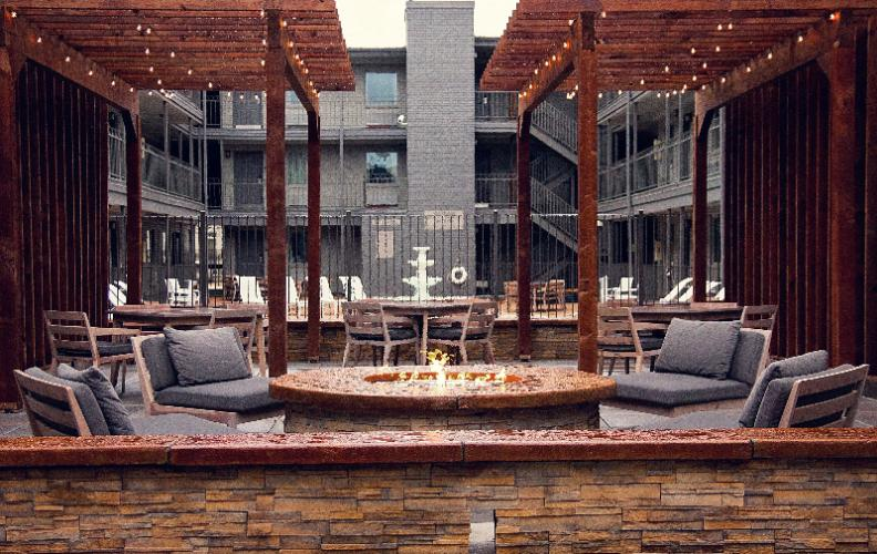 Courtyard With Veranda And Fire Pit 9 of 9