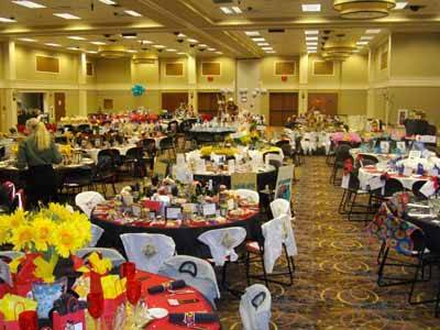 Rivers Event Center Set Up For Banquet. 4 of 12