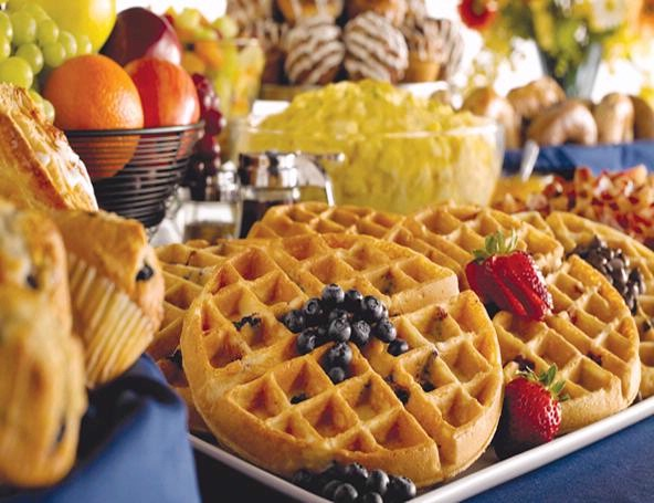 Enjoy Your Free Comfort Sunshine Breakfast Here Including Hot Eggs Bacon Waffles Fresh Fruit And More! 4 of 10