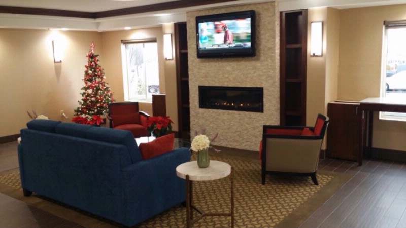 Warm Up By The Fireplace In Our Brand New Lobby Area! 7 of 10