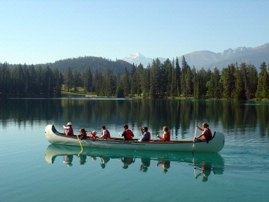 Canoeing On Lac Beauvert 3 of 16