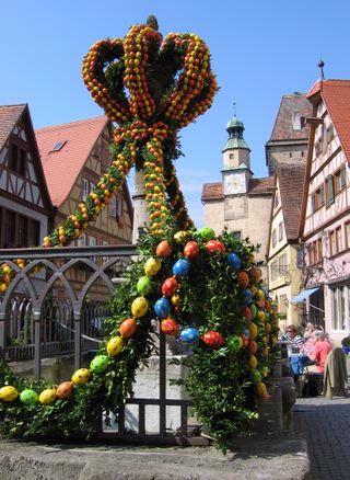 Easter Decoration Of Fountain In Town 16 of 20