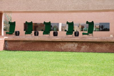 Green Chairs Facing Main Swimming Pool 29 of 29