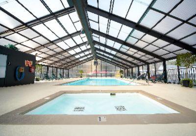 Enclosed Heated Pool Open Year Round Roof Is Opened During Warmer Months 6 of 12