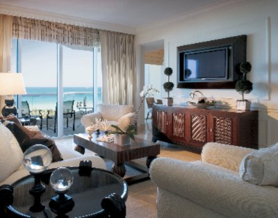 One Bedroom Oceanfront Suite Living Room 8 of 16