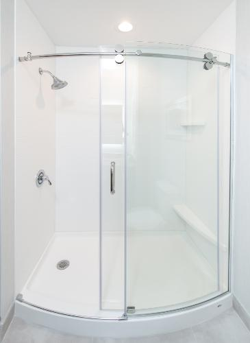 King Leisure Modern Curved Glass-Door Shower 9 of 29