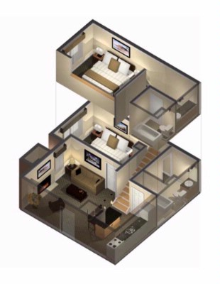 Two Bedroom/two Bath Suite Floorplan 5 of 12