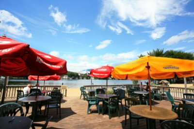 Outdoor Lakeside Dining At Our Oxhead Tavern 4 of 11