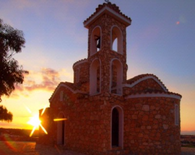 Church Of Prophet Elias At Sunset In Protaras Resort 12 of 15