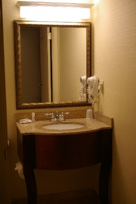 Renovated Bath With Granite Vanity 7 of 11