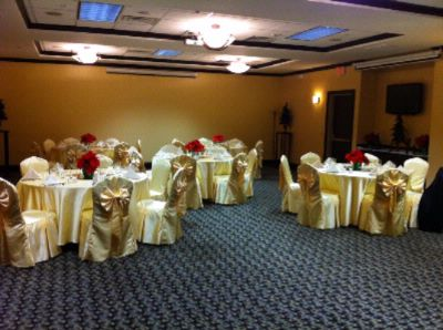 Gold Linen Service W/ Matching Chair Covers 21 of 24