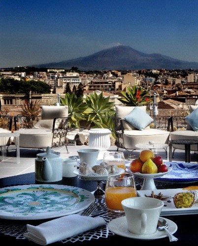 Sicilian Breakfast With Etna Mountain View 14 of 20