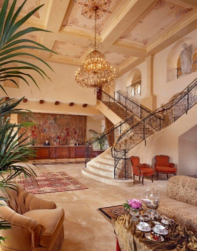 Grand Lobby Featuring 17th Century Tapestry And 400 Year Old Fireplace From France. 3 of 15