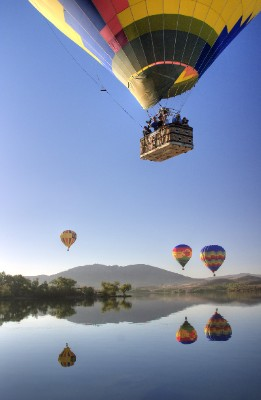 Hot Air Balloons Over Wine Country 7 of 7