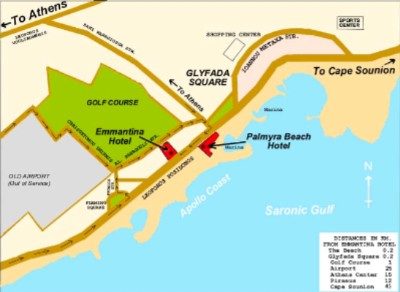Map Of Glyfada Area 10 of 11