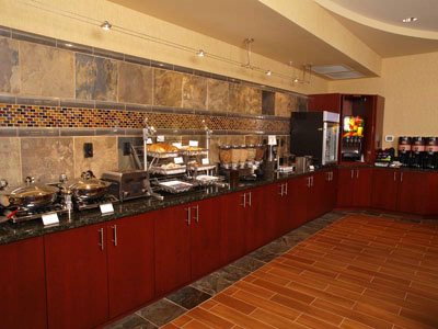 Hot Breakfast Buffet Including Waffles Eggs Sausage Fresh Fruits Yogurts Pastries And More 4 of 18