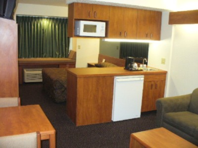 Suites Have A Queen Pull-Out Sleeper Microwave Coffeemaker And Fridge 6 of 6