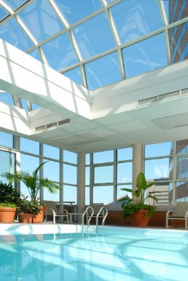 Atrium Pool With Outside Terrace Boasting Amazing Downtow Views 5 of 7