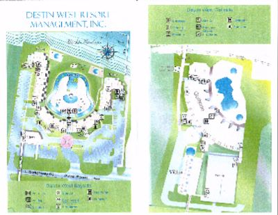 Destin West Beach & Bay Resort Property Map