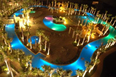 Lazy River Lagoon Pool At Night (Bay Side) 5 of 12