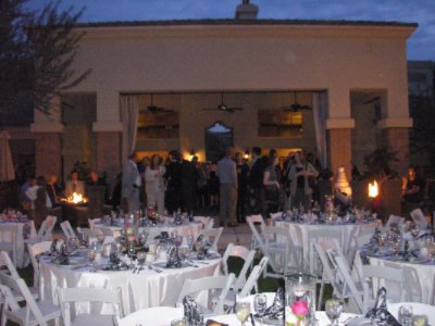 Twilight Wedding Reception On The Lawn And Patio 27 of 31