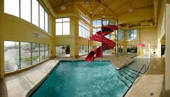Heated Indoor Pool With 80 Foot Waterslide 6 of 13