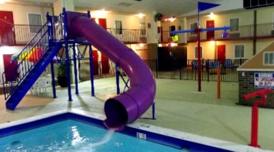 Our Heated Indoor Pool W/ Waterpark Features 6 of 31