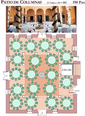 Casa De Carmona Patio Seating Plan For 190 11 of 27