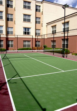 Play As Hard As You Work Or Just Have Fun At Our Sport Court Which Adapts To Become A Basketball Tennis Or Volleyball Court. We Supply The Equipment. You Supply The Fun. 5 of 10