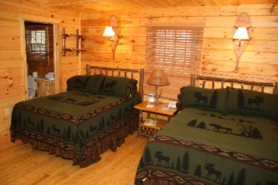 Log Cabin Loft Sleeping Area 6 of 28