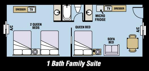 1bath Family Suite 4 of 8