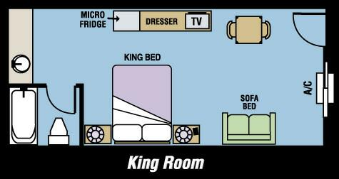 1 King Bed 1 Pull Out Sofa Room 6 of 8
