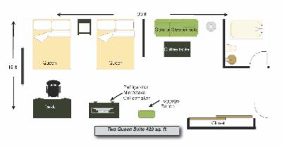 Queen/queen Suite Layout 3 of 10