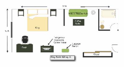 King Suite Layout 4 of 10