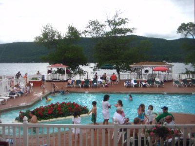 Swimming Pool And Patio Overlooking Beautiful Lake George 16 of 18