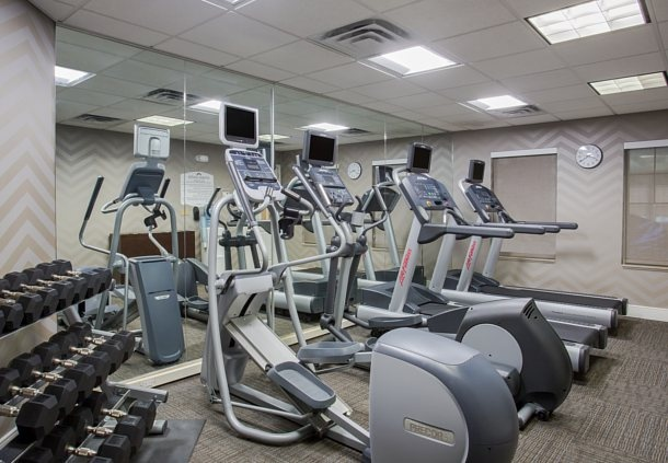 Get In A Workout At Our 24-Hour Fitness Center With Cardio Equipment Free Weights And Fresh Towels. 9 of 11