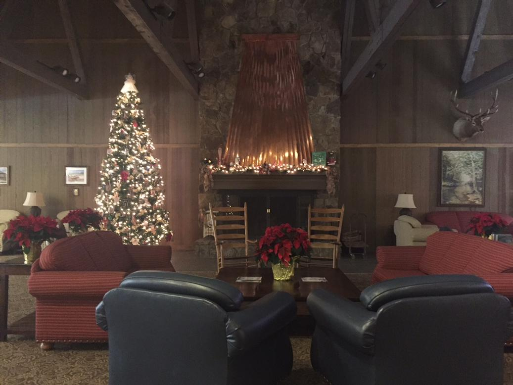 Lodge Lobby During The Holidays 6 of 11