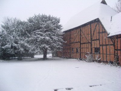 Tithe Barn In Winter 10 of 16