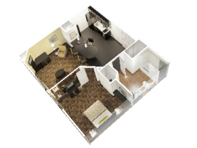One Bedroom Suite Floorplan 7 of 11